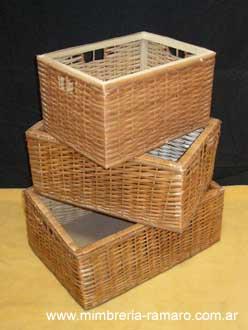 Canastos cestas - Canastos de mimbre ...